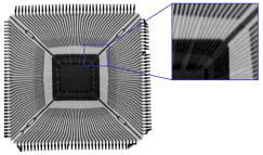 Xilinx Spartan - TQ144, 50µm detecor size